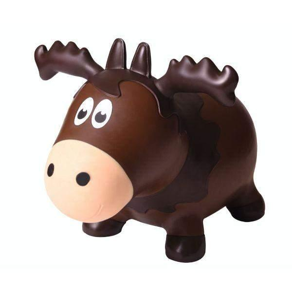 Toys - Wildlife Farm Hoppers Inflatable Bouncing Moose With Pump