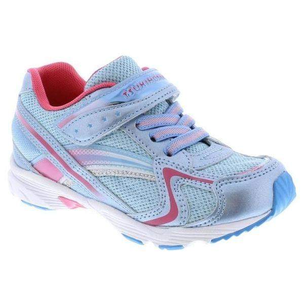 Tsukihoshi GLITZ Blue Ice Girls Running Shoes (Machine Washable) - ShoeKid.ca