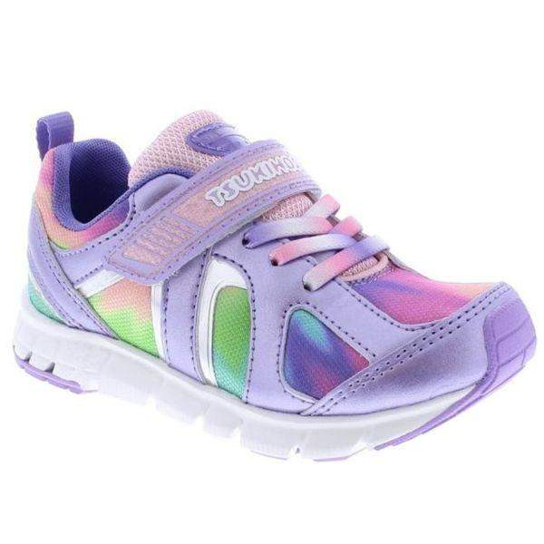 Tsukihoshi Rainbow Lavender Multi Girls Running Shoes (Machine Washable) - ShoeKid.ca
