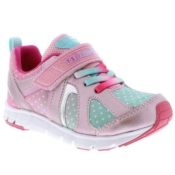 Tsukihoshi Rainbow Rose Mint Girls Running Shoes (Machine Washable)