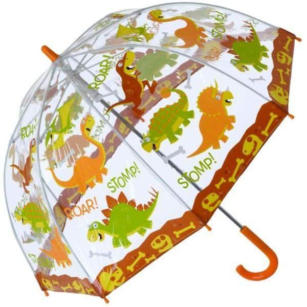 Bugzz Clear Birdcage Kids Umbrella / Dinosaur - shoekid.ca