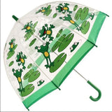Umbrella - Bugzz Clear Dome Birdcage Kids Frog Umbrella