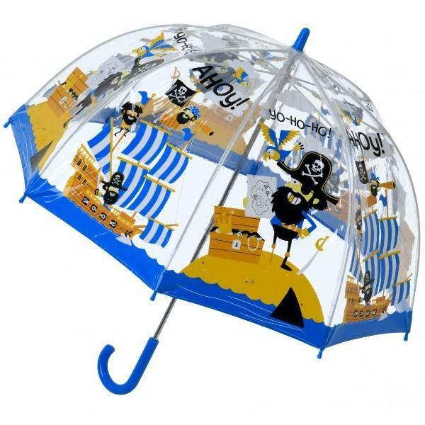 Bugzz Clear Dome Birdcage Kids Umbrella / Pirate - ShoeKid Canada