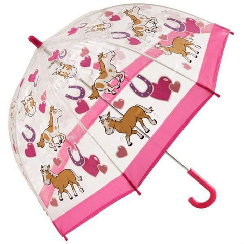 Bugzz Clear Dome Birdcage Kids Umbrella / Pony - shoekid.ca