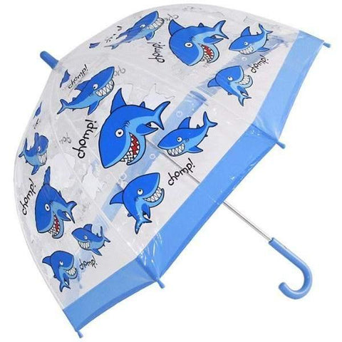 Bugzz Clear Dome Birdcage Kids Umbrella / Shark - shoekid.ca