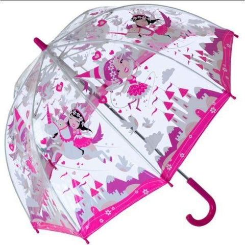 Bugzz Clear Dome Birdcage Kids Umbrella / Unicorn - shoekid.ca
