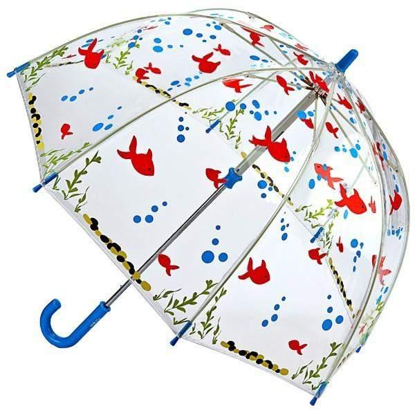 Fulton Funbrella Gone Fishing Clear Umbrella - ShoeKid Canada