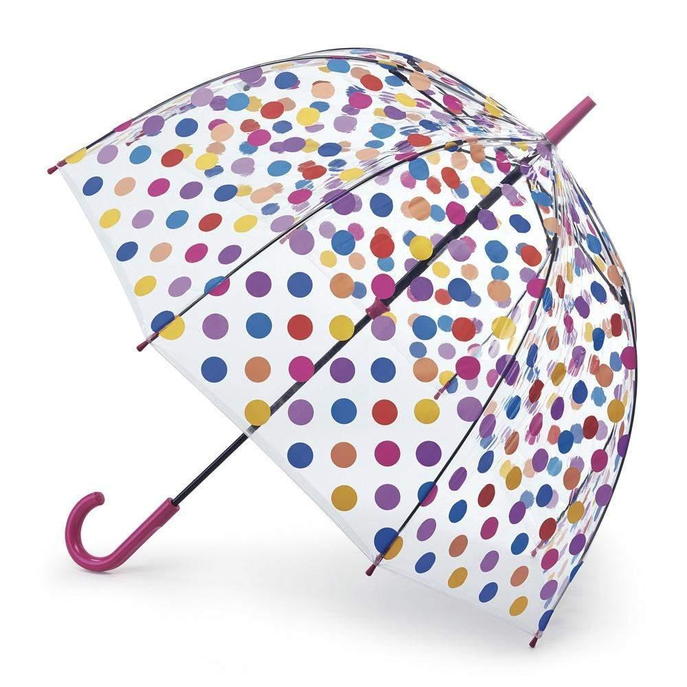 Fulton Kids Clear Umbrella Polka Dot - ShoeKid Canada