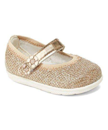 Stride Rite Layla Baby Girls Casual Shoes Gold Bling - ShoeKid.ca