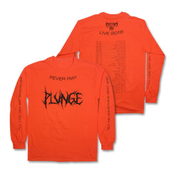 PLUNGE 2018 ORANGE L/S TOUR T-SHIRT