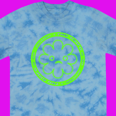 THE KNIFE 20th ANNIVERSARY FLOWER BLUE T-SHIRT