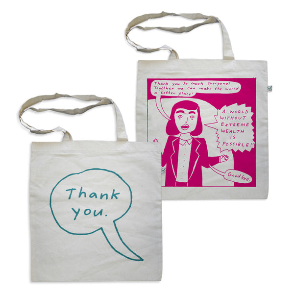 The Knife - End Extreme Wealth Thank You Tote Bag