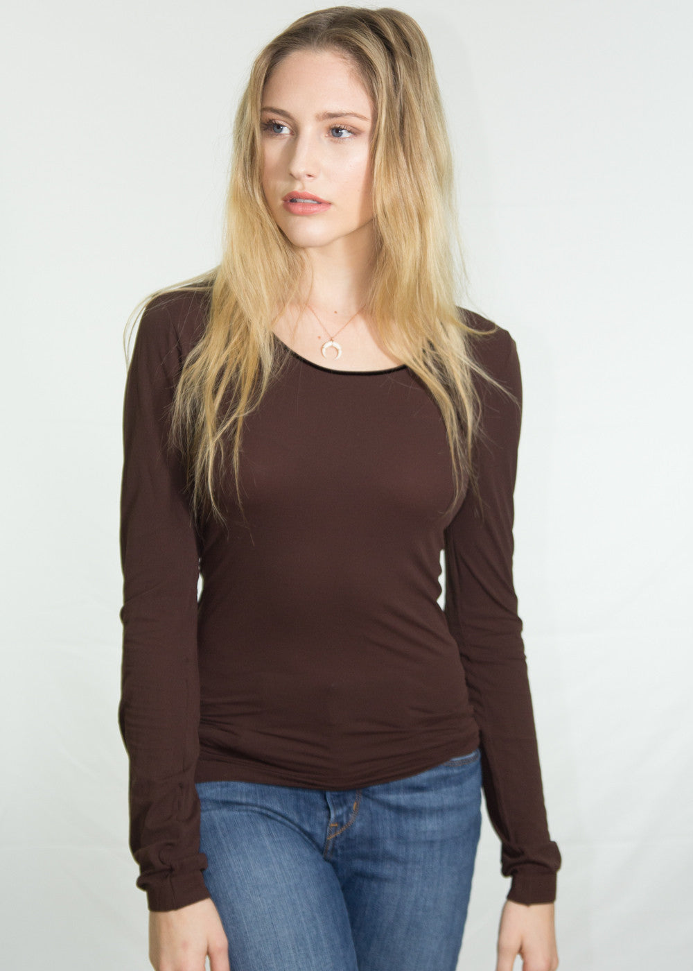 Luna Crew Neck Sheer Top XL