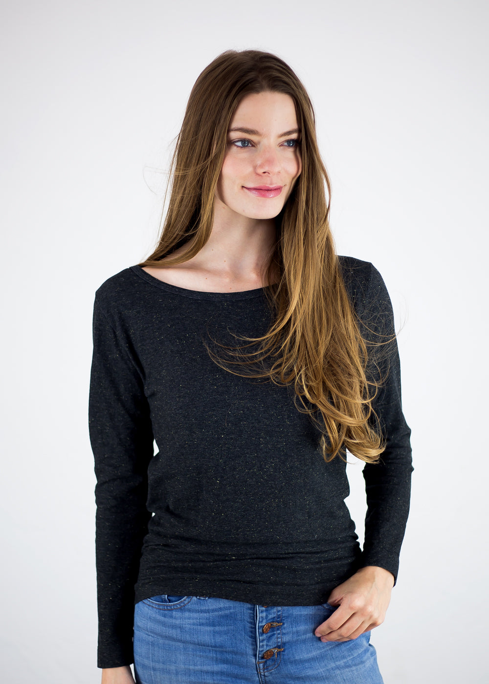 Lurex Long Sleeve Top