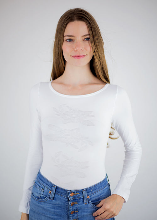 Orchid Crew Neck Top