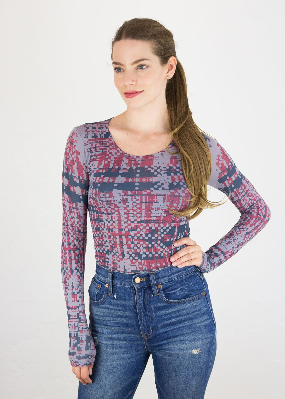 Tweed Crew Neck Top