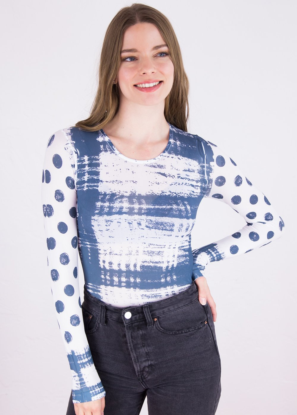 Grunge Collage Crew Neck Top- New Color!