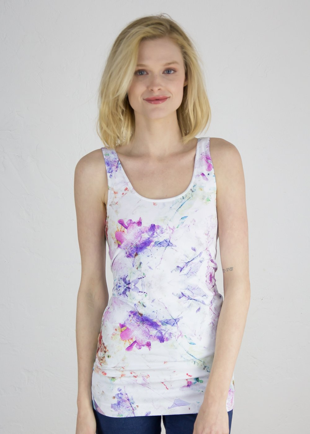 Watercolor Bloom Seamless Tank Top