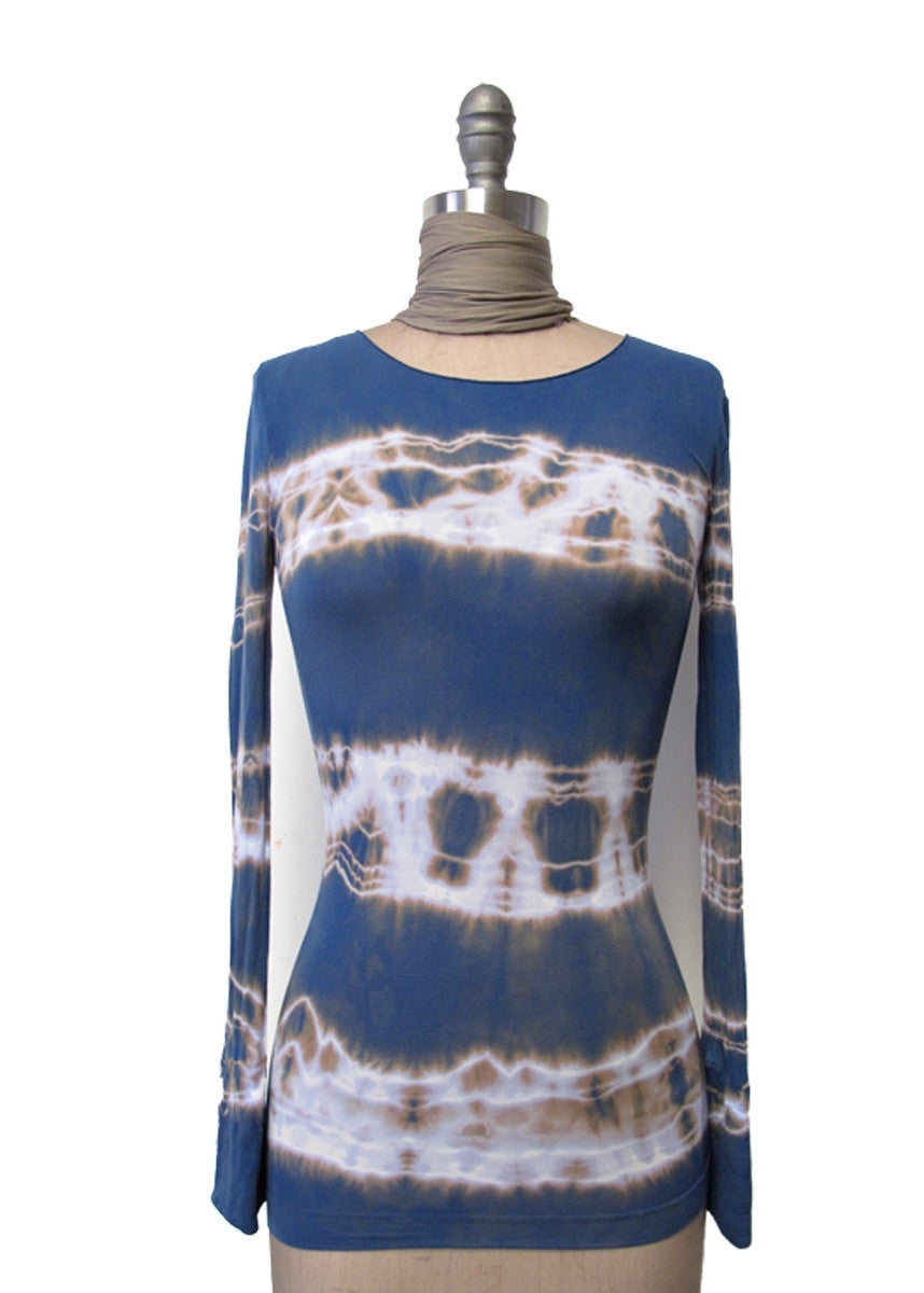 Shibori Cuffed Top