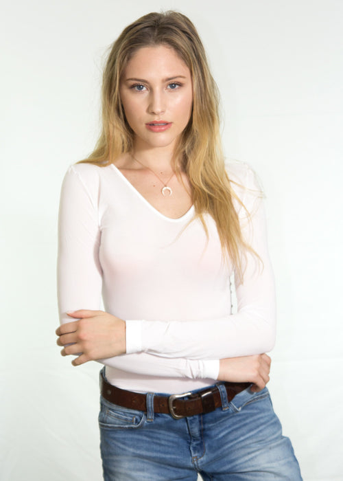 Luna V Neck Sheer Top
