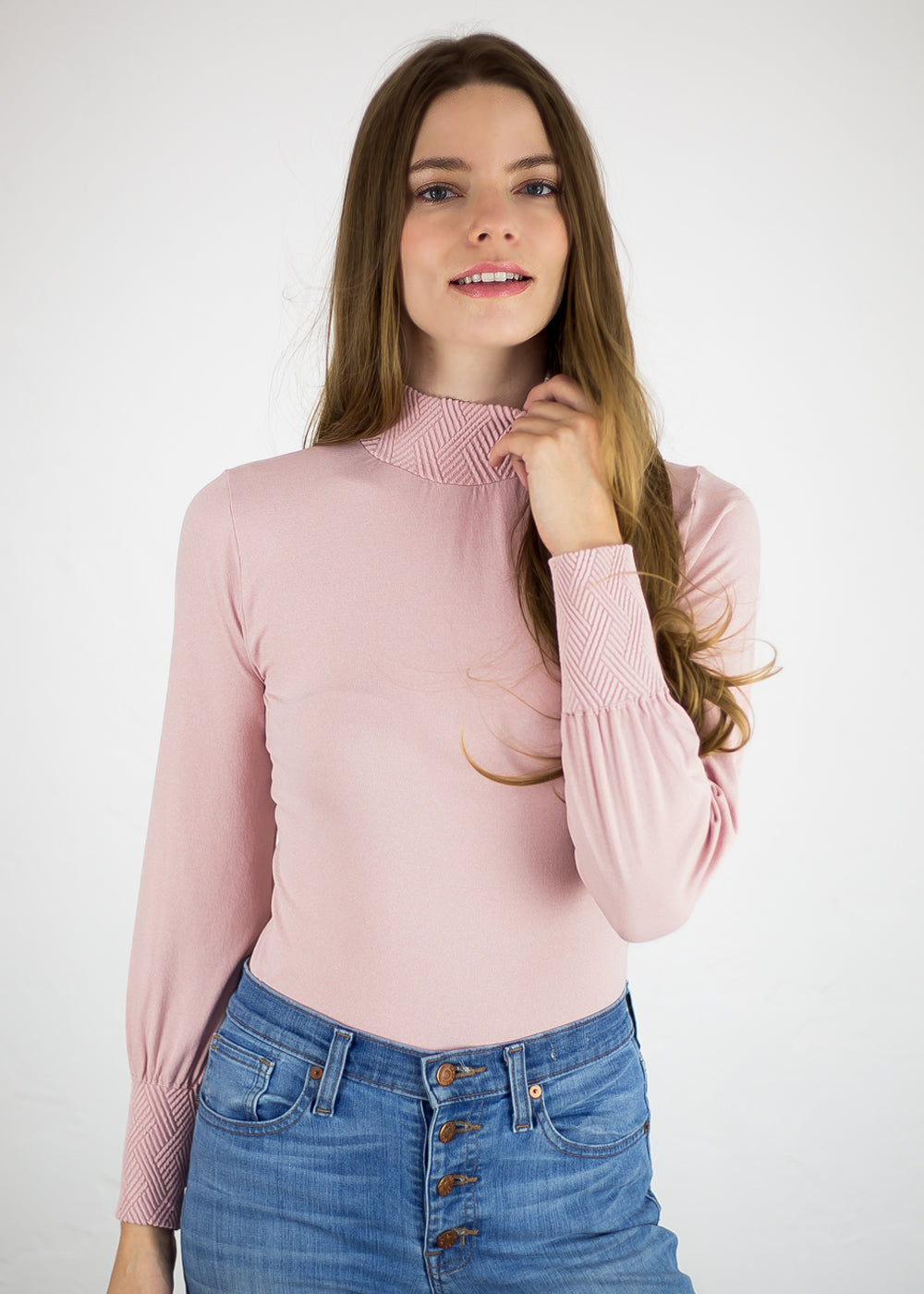 Elizabeth Mock Neck Top