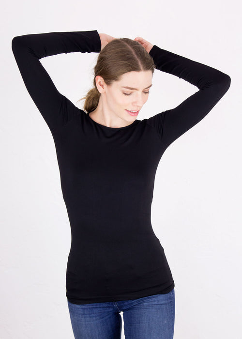 Classic Crew Neck Long Sleeve Top - New Colors!