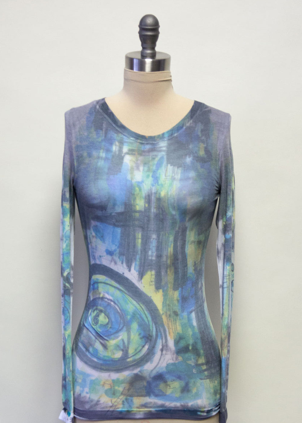 Maria Impressionist Long Sleeve Top