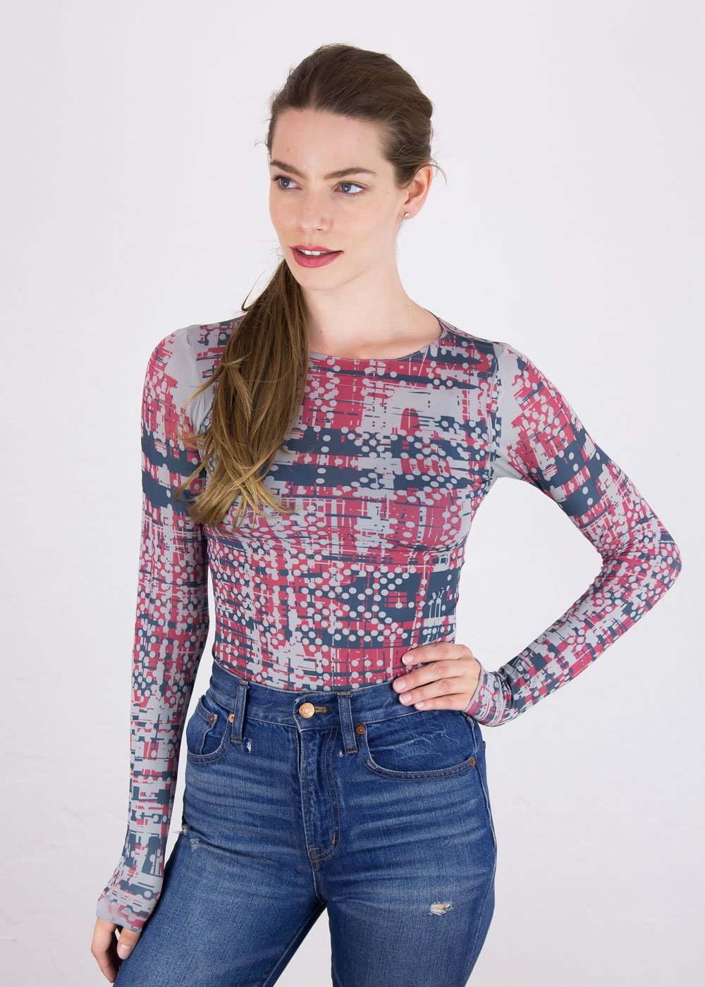 Tweed Raw Edge Top