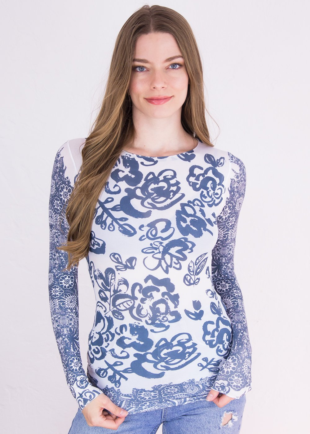 Flower Medley Raw Edge Top - New Colors!