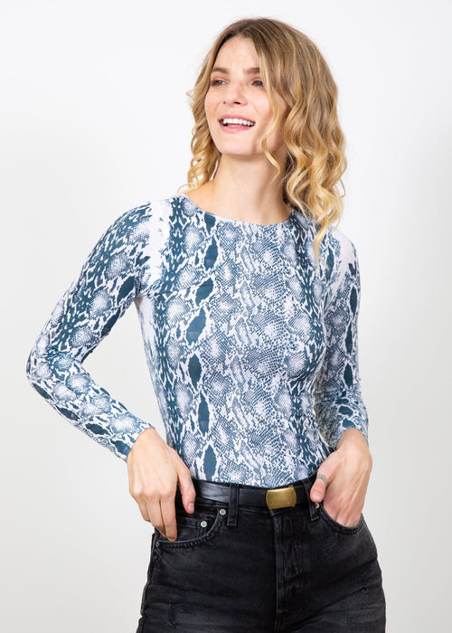 Snake Skin Raw Edge Top