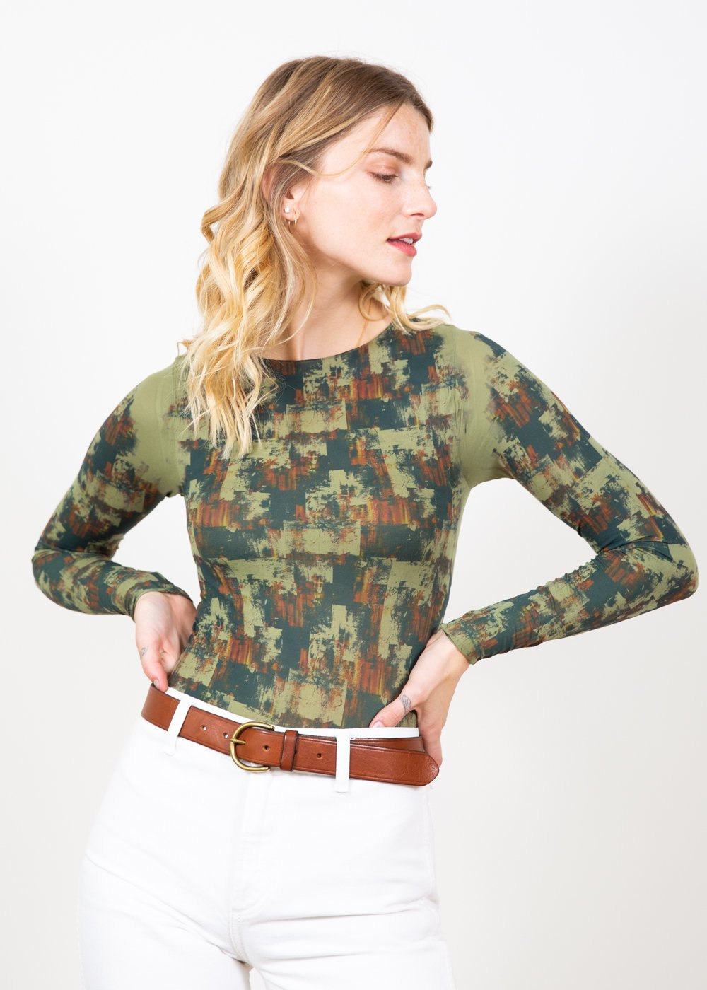 Autumn Grunge Raw Edge Top