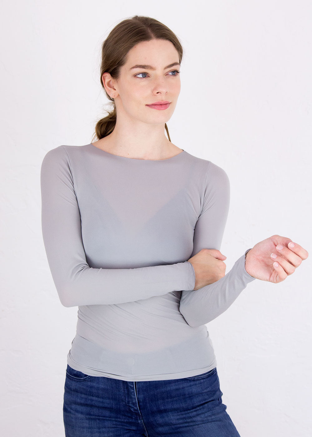 Raw Edge Sheer Top - NEW COLORS!