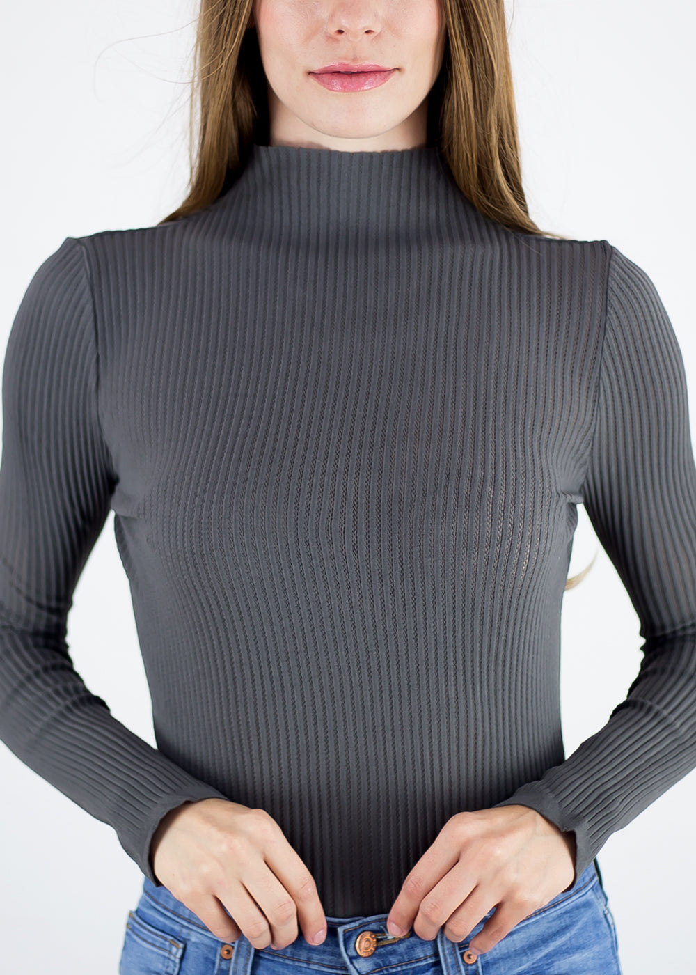 Bianca Mock Neck Top