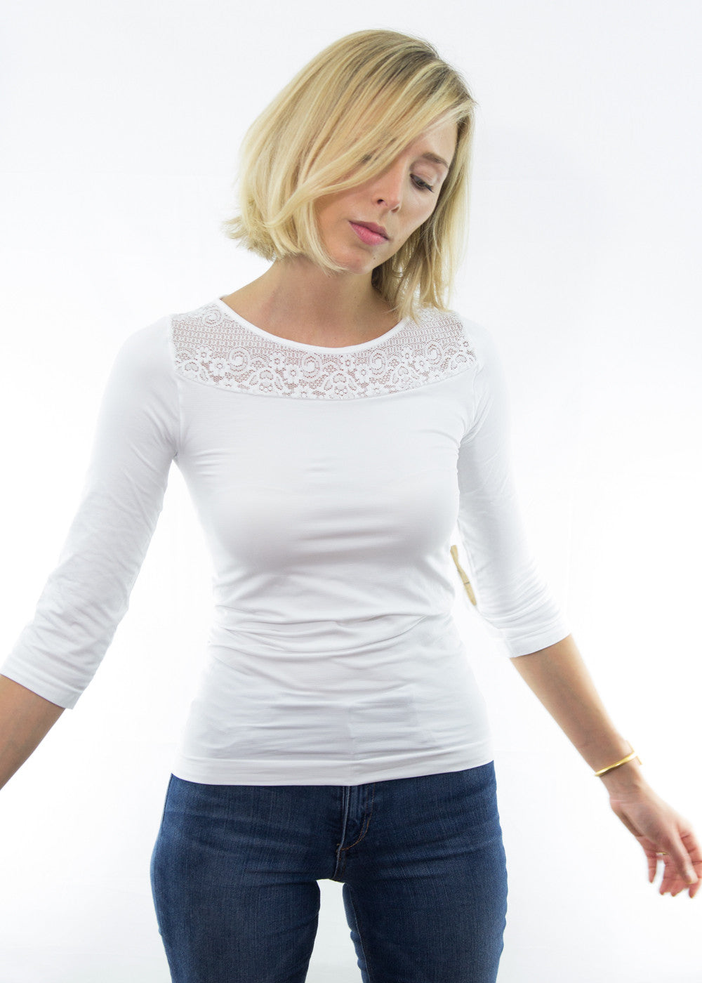 Coco Lace 3/4 Sleeve Top