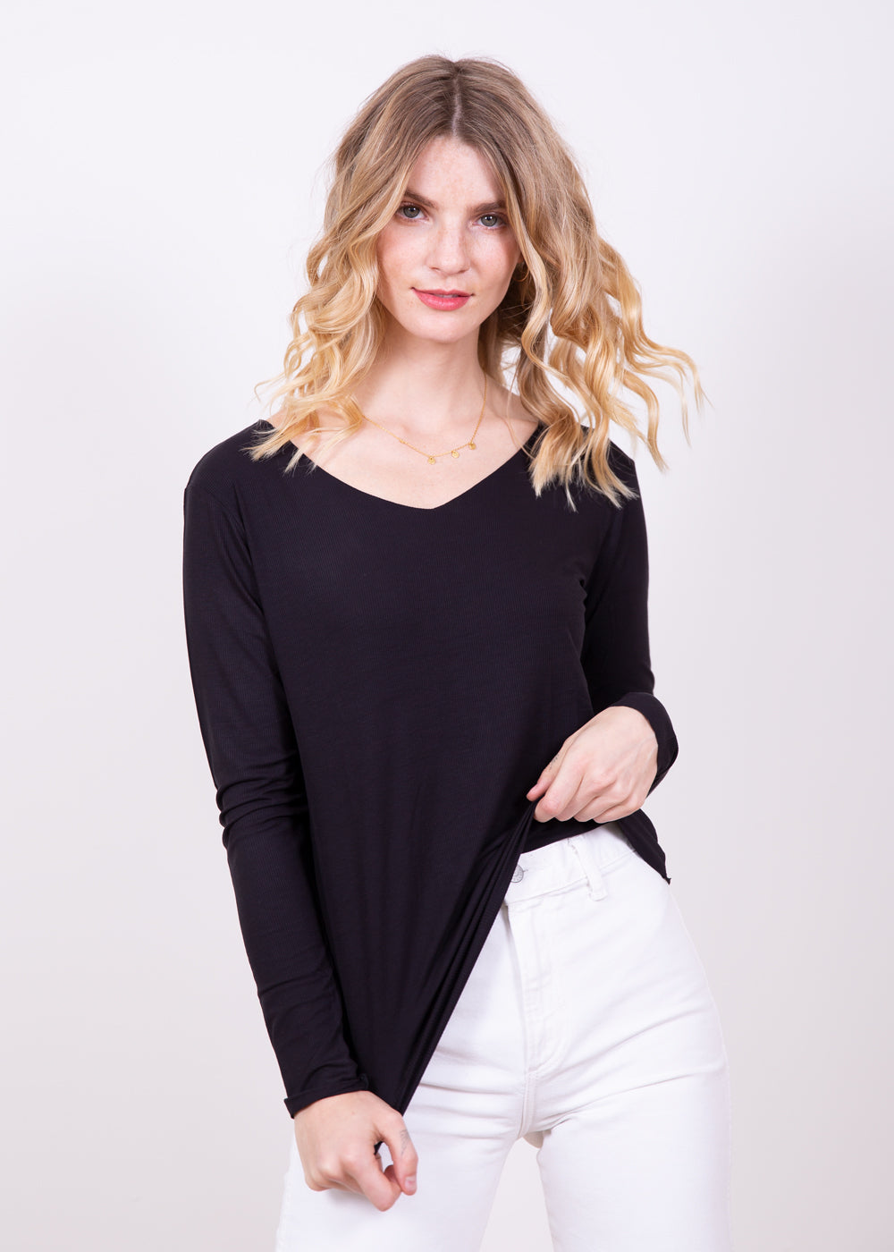 Kate V Neck Top