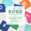 BOGO! Sale on Cocktail Napkins + Guest Towels