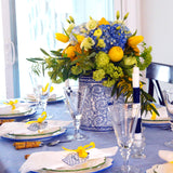 Spring Tablesetting with Ginger Jars + Lemons