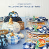 Halloween Tablesetting for Blue + White Lovers