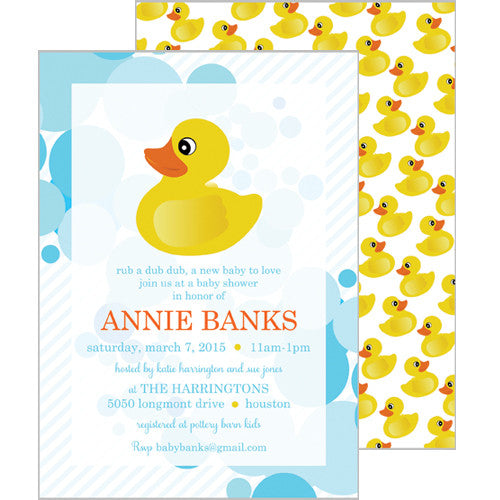 Party invitations kids parties rubber ducky filmwisefo Image collections