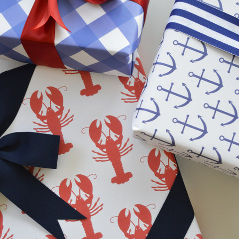 nautical gift wrap sheets from wh hostess