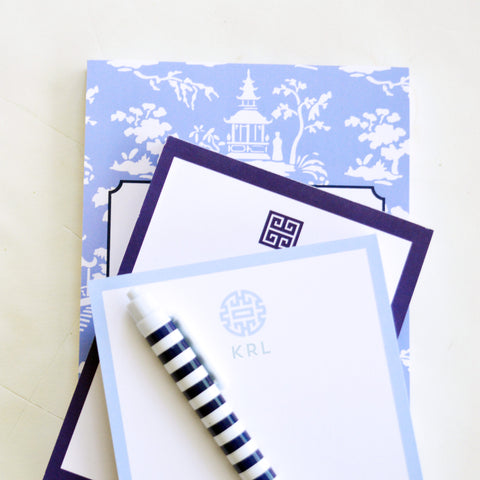 Chinoiserie toile notepad