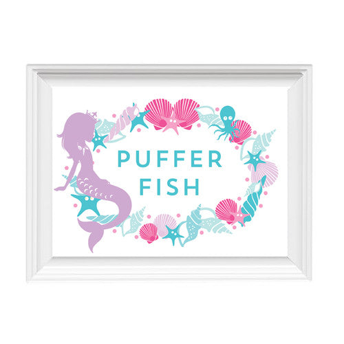 Mermaid Shell Frame 5x7 Sign