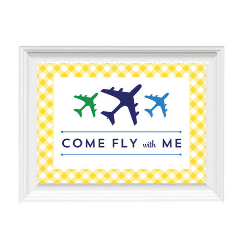 "Copy of 5""x7"" Things That Go Airplane Sign"