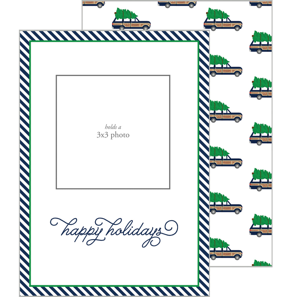 Photo Mount Holiday Photo Card | Woodie Jeep Wagoneer