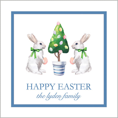 Easter Bunny Tree Gift Sticker | Set of 24