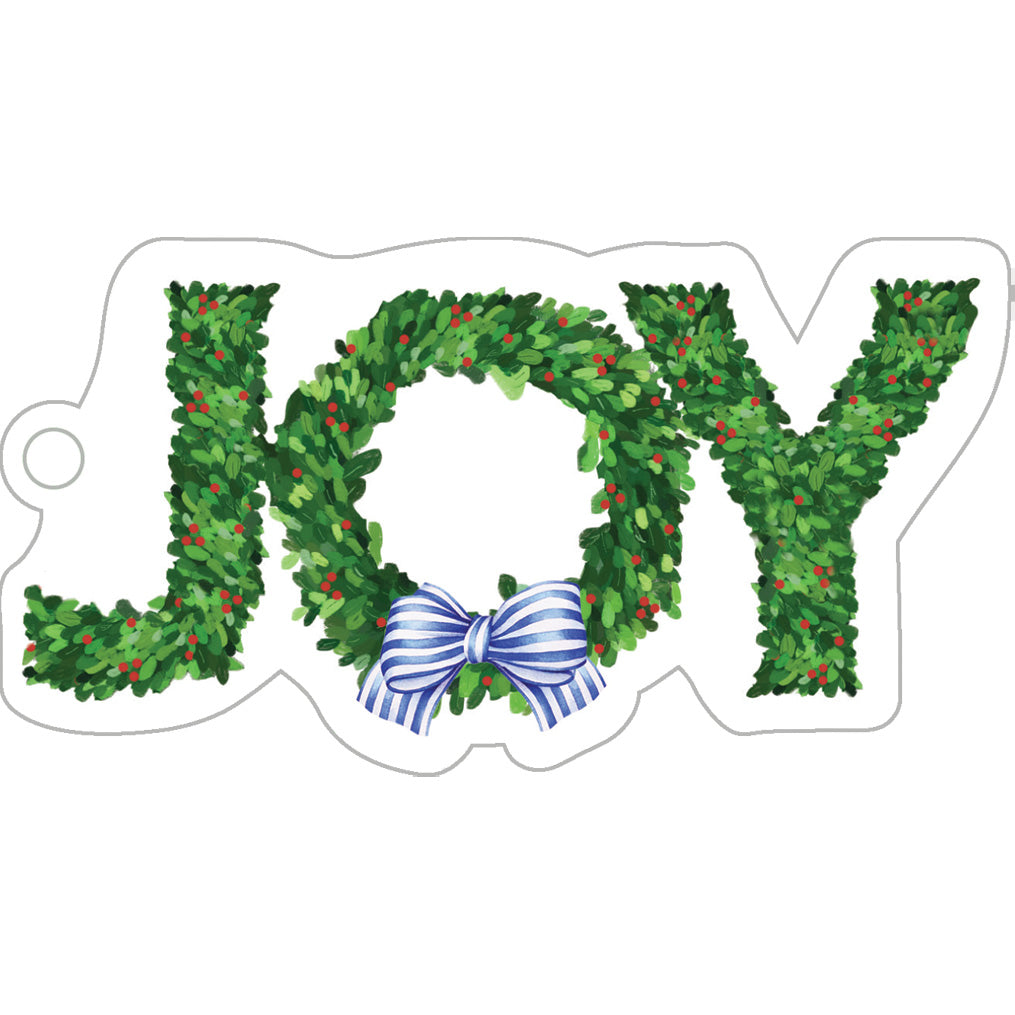 Stock Shoppe: JOY Boxwood Die-Cut Gift Tags
