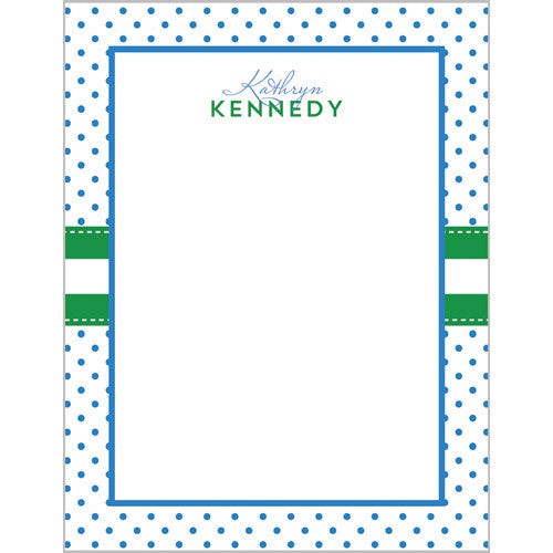 Swiss Dot Personalized Notepad - More Color Options