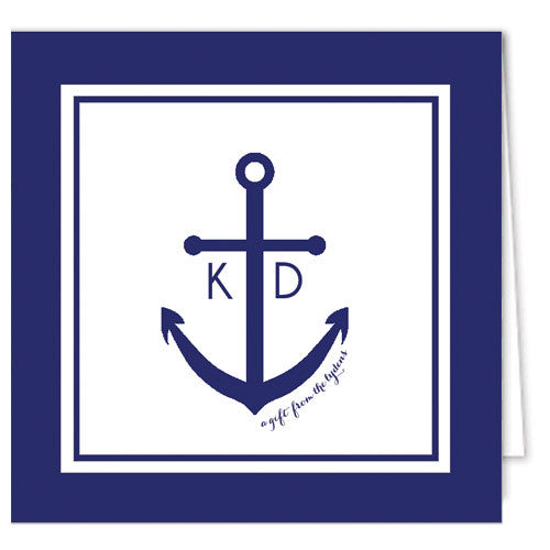 Preppy Anchor Enclosure Cards + Envelopes | More Colors