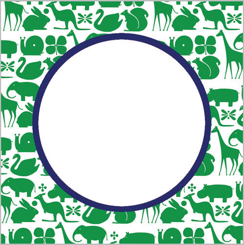 Preppy Animals Gift Sticker - Set of 24 - Green