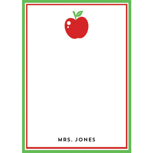 Apple Personalized Notepad